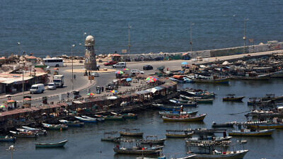 View of the port in Gaza City on Aug. 13, 2020. Photo by Abed Rahim Khatib/Flash90.