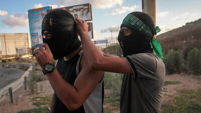 Palestinians rioting on behalf of the terrorists who escaped from the Gilboa Prison clash with Israeli security forces at the Hawara checkpoint, south of  Nablus, on Sept. 11, 2021. Photo by Nasser Ishtayeh/Flash90.