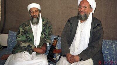 Al-Qaeda leader Osama bin Laden (left) and Ayman al-Zawahiri in 2001. Credit: Wikimedia Commons.