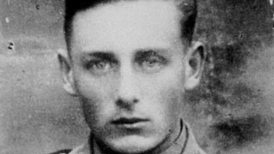 Helmut Oberlander as a young member of Einsatzkommando 10a. Credit: Centre for Israel and Jewish Affairs.