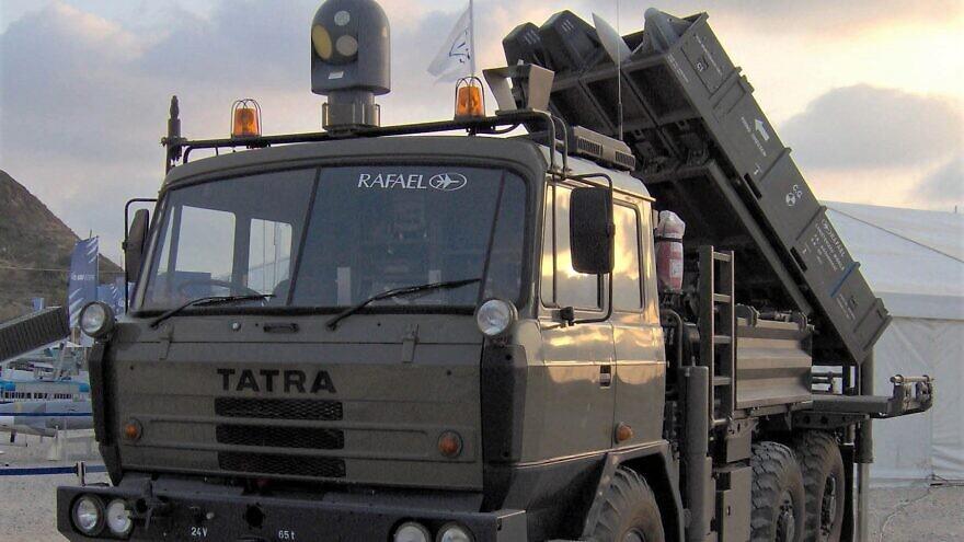 Rafael's SPYDER air-defense missile system, September 2008. Credit: Ereshkigal1 via Wikimedia Commons.
