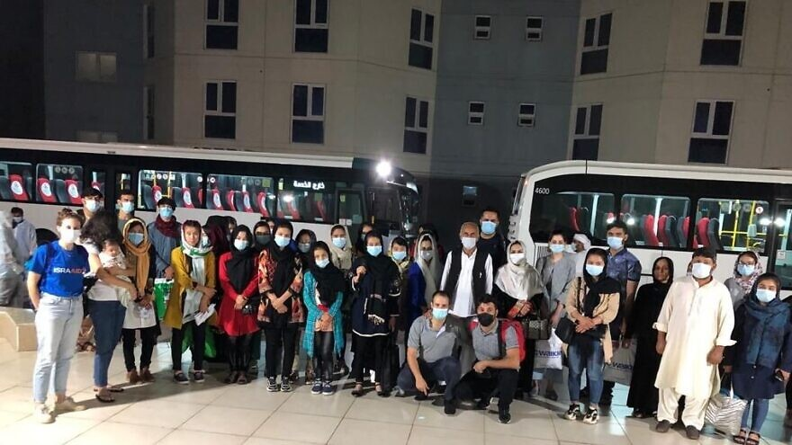 A group of 41 Afghan women and their families were rescued from Taliban-ruled Kabul in a successful mission that brought them safely to Abu Dhabi, September 2021. Credit: IsraAID.