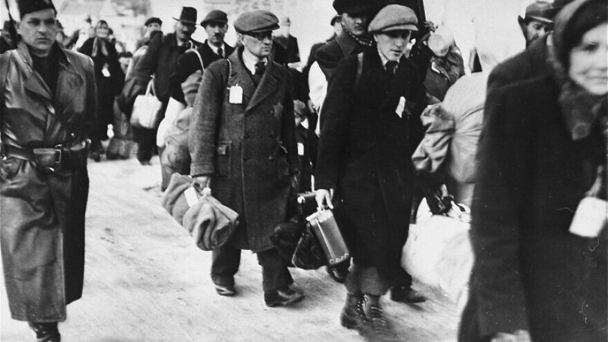 Slovakian Jews being deported by the government during World War II after authorities signed an agreement with Germany in March 1942. Credit: United States Holocaust Memorial Museum.