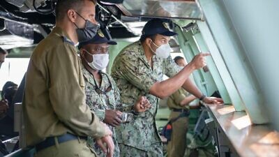 """U.S. Navy and Israeli Navy sailors during the """"Noble Waters"""" exercise. Credit: IDF."""