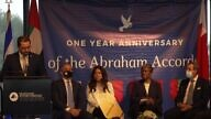 Ambassadors to the UN from Israel, UAE, the United States, Bahrain and Morroco attend an event marking the one year anniversary of the Abraham Accords. Source: Screenshot.