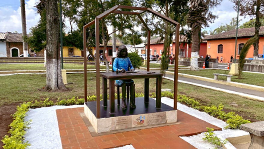 The Anne Frank Children's Human Rights Memorial was dedicated on Sept. 3, 2021. Credit: San Diego Jewish World.