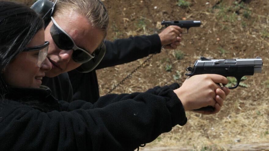 A firing range in Gush Etzion, May 2. 2010. Photo by Nati Shohat/Flash90.