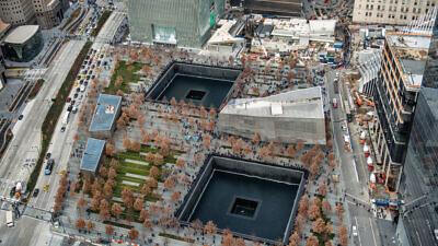 An aerial view of the 9/11 Memorial Museum in Lower Manhattan. Credit:  Nick Starichenko/Shutterstock.