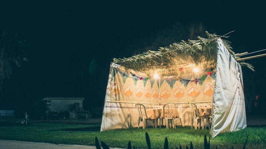 A view of a sukkah. Credit: jennylipets/Shutterstock.