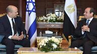 Israeli Prime Minister Naftali Bennett with Egyptian President Abdel Fattah El-Sisi in Sharm El-Sheikh. Credit: GPO/Kobi Gideon.