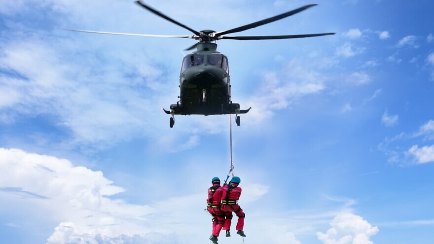 The Israeli wireless communications company Commtact unveils a new system for first responders, October 2021. Credit: Courtesy.