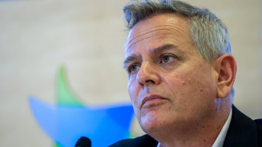 Israeli Health Minister Nitzan Horowitz attends a press conference in Jerusalem on Aug. 29, 2021. Photo by Olivier Fitoussi/Flash90.