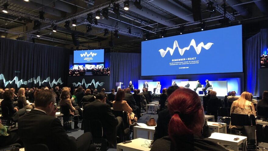 A view of the Malmö International Forum on Holocaust Remembrance and Combating Anti-Semitism—Remember ReAct event in Sweden, Oct. 14, 2021. Source: Twitter.