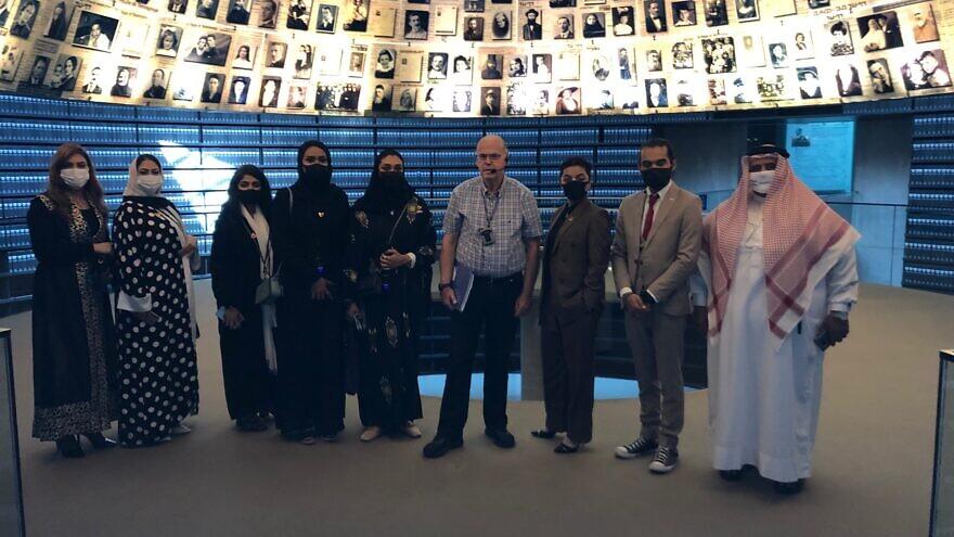 The Bahraini delegation at Yad Vashem in Jerusalem, October 2021. Photo by Josh Hasten.