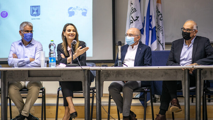 Israeli Education Minister Yifat Shasha-Biton announces plans to turn WIZO into the University of Haifa's Faculty of Design and Architecture during a visit to the university