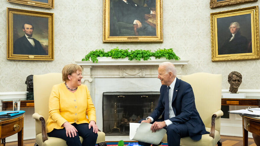 German Chancellor Angela Merkel with U.S. President Joe Biden at the White House in Washington, D.C., two months before national elections in Germany, July 15, 2021. Credit: Office of the President of the United States.
