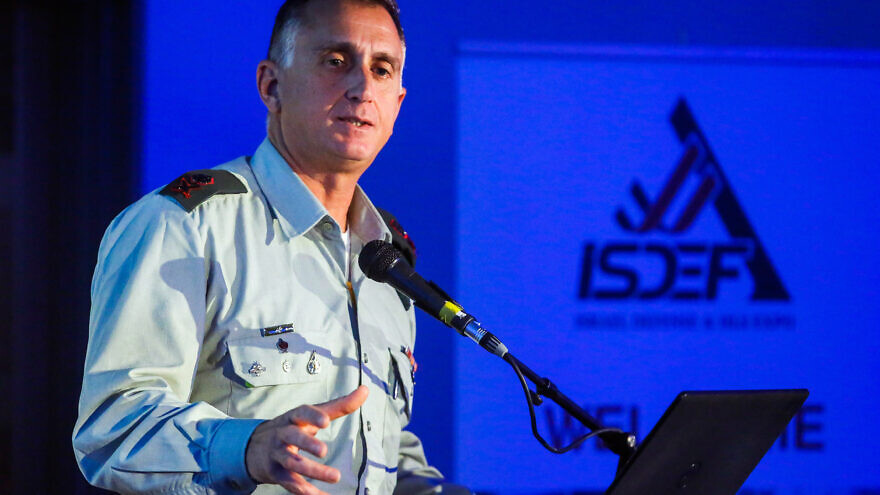IDF Maj. Gen. Tamir Heiman at an Israel Intelligence Heritage conference in Tel Aviv on June 5, 2019. Photo by Flash90.
