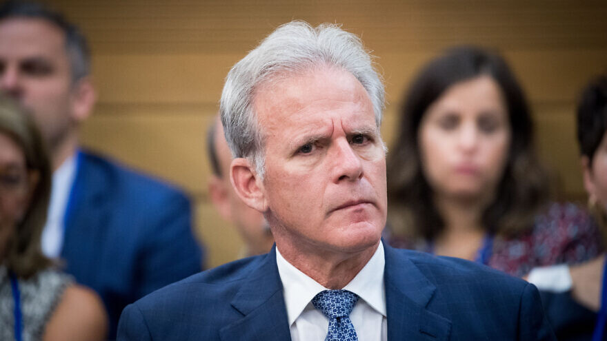 Knesset member Michael Oren attends the lobby for strengthening ties with the Jewish world at the Knesset, June 27, 2017. Photo by Yonatan Sindel/Flash90.