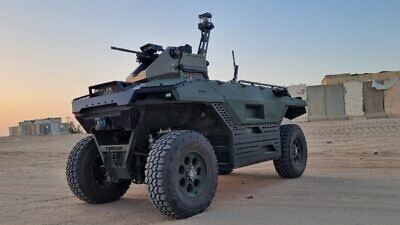 TheREXMK II, armed with remote-controlled weapons systems. Credit: Courtesy of Israel Aerospace Industries.