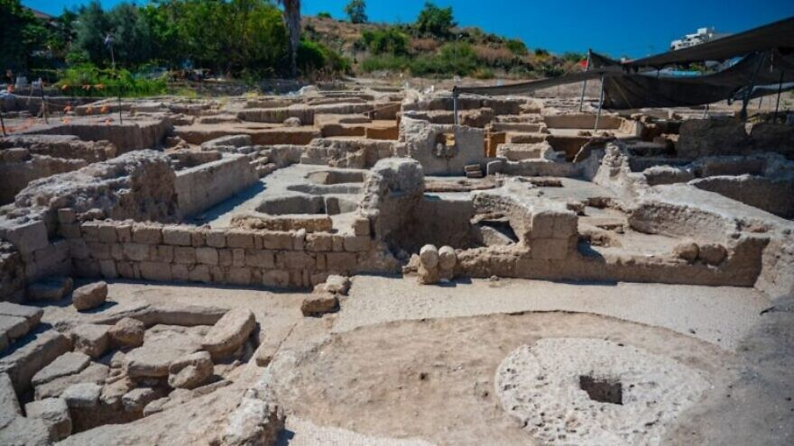 The winepresses at this Byzantine-era facility in Yavneh produced some two million liters of wine annually. Credit: Yaniv Berman/Israel Antiquities Authority.