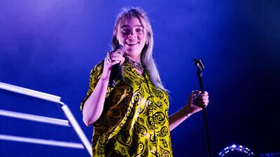 Billie Eilish performs in concert at Sant Jordi Club on March 9, 2019 in Barcelona, Spain. Credit: Christian Bertrand/Shutterstock.
