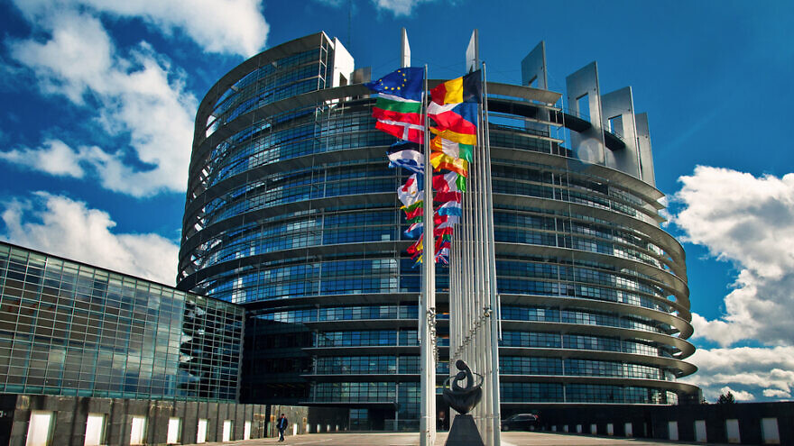 Exterior of the European Parliament in Strasbourg, France on 20 March 2013. Credit: Botond Horvath/Shutterstock.